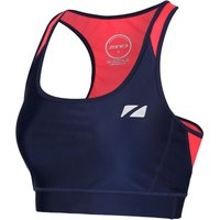 Zone3  Womens Aquaflo Plus Bra Crop Top - S Navy/Coral | Sports Bras