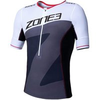 Image of Zone3 Men's Lava Long Distance Tri Top Short Sleeve - M | Tri Tops