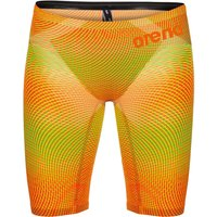 """Image of Arena Powerskin Carbon Air² Jammer - 22"""" Psyco-Lime-Orange   Jammers"""