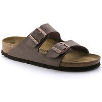 Teenslippers Birkenstock Slipper Dames Arizona BF Nubuk Mocca
