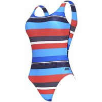 Image of Zoggs Women's Pop Block Scoopback - 34 Stripe | One Piece Swimsuits