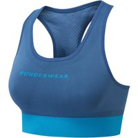 Runderwear Womens Crop Top - Large Blue | Sports Bras