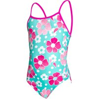Zoggs Girls Petal Magic Yaroomba Floral Swimsuit   One Piece Swimsuits