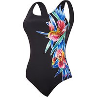 Zoggs Womens Hybrid Tropics Scoopback Swimsuit   One Piece Swimsuits