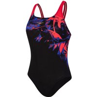 Speedo Women's ColourRays Placement Powerback   One Piece Swimsuits