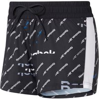 Image of Reebok Women's Printed Woven Short - Extra Small black | Shorts