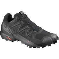 Salomon Speedcross 5 Wide Fit Shoes - UK 7 Black/Black | Trail Shoes