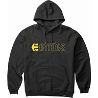 Image of Etnies Ecorp Hoodie - L Black/Yellow | Hoodies