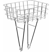 Pelago Front Rasket Bike Rack Basket - Polished Silver | Baskets