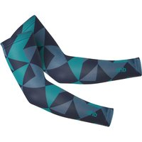 Image of dhb Blok Light Arm Warmer - Rock - Small Navy/Teal | Arm Warmers