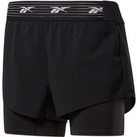 Image of Reebok Women's TS EPIC 2 IN 1 Short - Extra Small black | Shorts