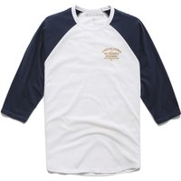 Image of Alpinestars Booted Premium Long Sleeve Tee - L White/Blue | T-Shirts