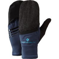 Image of Ronhill Wind-Block Flip Run Gloves - Large Deep Navy | Gloves