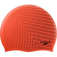 Image of Speedo Reversible Moulded Silicone Cap - One Size Dragonfire / Black