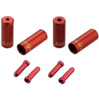 Image of Jagwire Brake - Gear Ferrules & Tidys - n/a Red | Brake Cables Spares