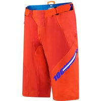 100% Airmatic Blaze Shorts - 28 Orange | Baggy Shorts