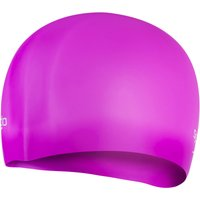 Image of Speedo Plain Moulded Silicone Swimming Cap - One Size Diva / White