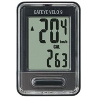 Cateye Velo 9 Wired Cycle Computer - Grey | Computers