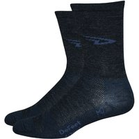 DeFeet Wooleator Hi Top Socks - Large Charcoal | Socks