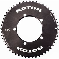 Image of Rotor noQ Chainring (Outer, Aero) - 50T Black | Chain Rings