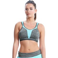 Freya Active Force Crop Top Soft Cup Sports Bra - 30D Carbon