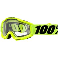 100% Accuri Goggles - Enduro Dual - One Size Yellow/transparent