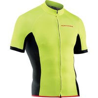 Image of Northwave Force Short Sleeve Jersey - L Yellow Fluo | Jerseys
