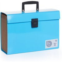 fdee811054 Wilko A4 Blue Expanding Box File with 19 Sections