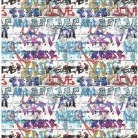 Fresco Graffiti Multicoloured Wallpaper
