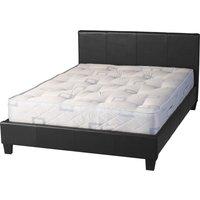 Prado Black Faux Leather Double Bed