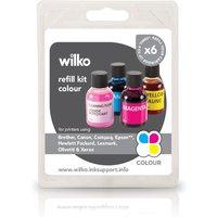 Wilko Ink Cartridge Refill Kit Colour 4 pack