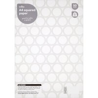 04c0f3530b Wilko A4 Squared Paper 50 Sheets 80gsm