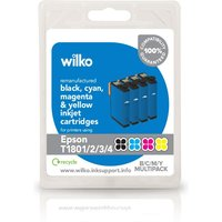 Wilko Remanufactured Epson T1806 Ink Cartridge Multipack