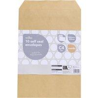884e905d35 Wilko Peel   Seal Envelopes C4 Manilla 10pk 324 x 229mm