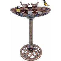GardenKraft GardenKraft Clam Shell Design Bird Bath with Stone Plastic