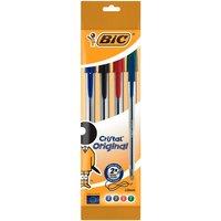 Bic Cristal Original Ballpoint Pens Assorted Colours 4 pack