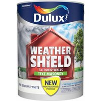 Dulux Weathershield Pure Brilliant White Textured Masonry Pa