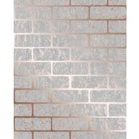 Superfresco Colours Milan Brick Rose Gold Wallpaper