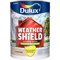 Dulux Weathershield Sandstone Smooth Masonry Paint 5L Acryli