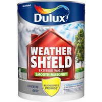 Dulux Weathershield Concrete Grey Smooth Masonry Paint 5L Ac