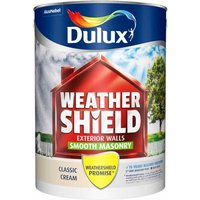Dulux Weathershield Classic Cream Smooth Masonry Paint 5L Ac