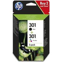 HP 301 Black and Tri Colour Ink Cartridge Multipack