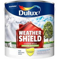 Dulux Weathershield Pure Brilliant White Smooth Masonry Pain