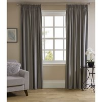 Wilko Silver Thermal Blackout Pencil Pleat Curtains 167 W x