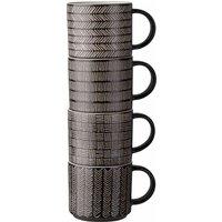 Wilko Black and White Fusion Stacking Mugs