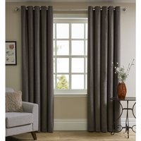 Wilko Charcoal Faux Wool Curtains 228 W x 228cm D