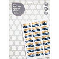 Wilko White Self Adhesive Labels 210 pack