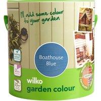 Wilko Garden Colour Boathouse Blue Exterior Paint 2.5L