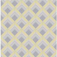 Graham & Brown Boutique Wallpaper Trifina Geo Yellow
