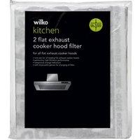 Wilko Kitchen Flat Exhaust Cooker Hood Filter 1mm 2pk